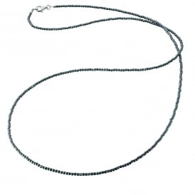Hermatite Necklace with a Silver Clasp