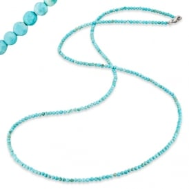 Howlite Necklet with Silver Clasp 80cm