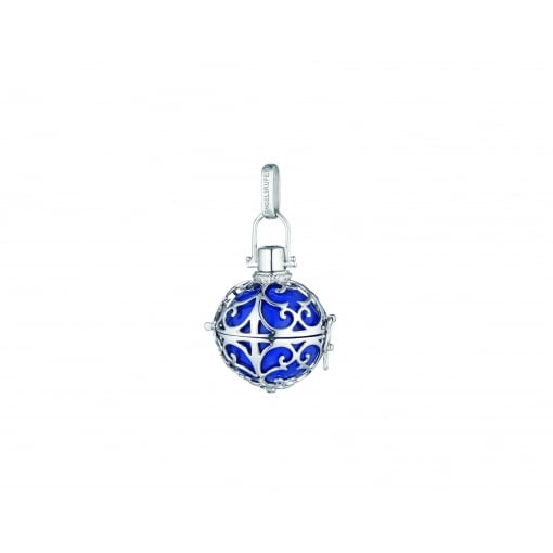 Engelsrufer Silver Pendant with Blue Medium Soundball