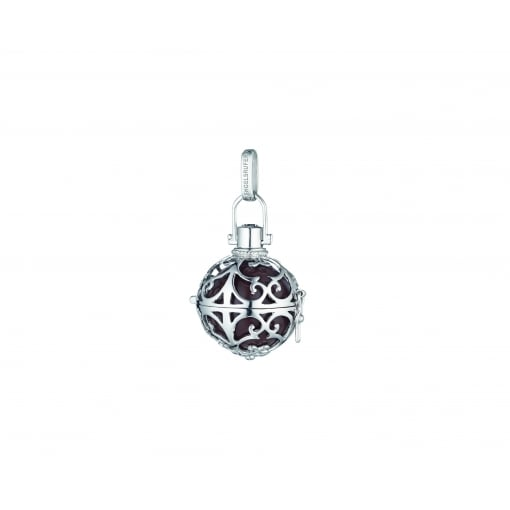 Engelsrufer Silver Pendant with Large Brown Soundball