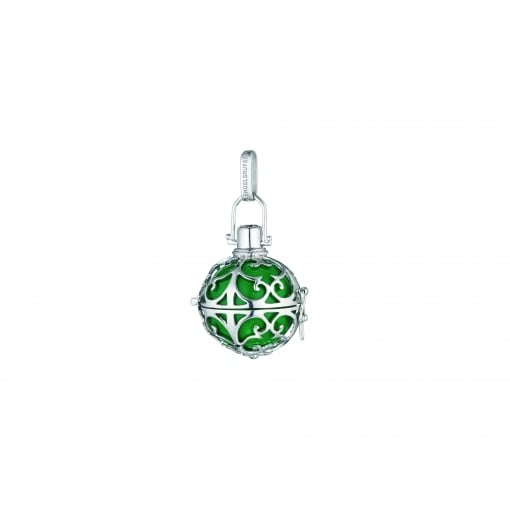 Engelsrufer Silver Pendant with Large Green Soundball