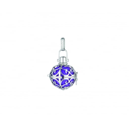 Engelsrufer Silver Pendant with Small Purple Soundball