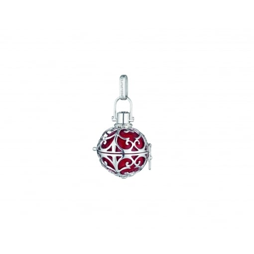 Engelsrufer Silver Pendant with Small Red Soundball