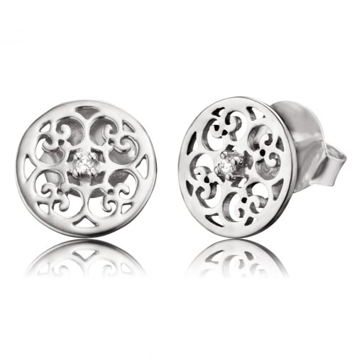 Engelsrufer Silver Stud Earrings with Cubic Zirconia