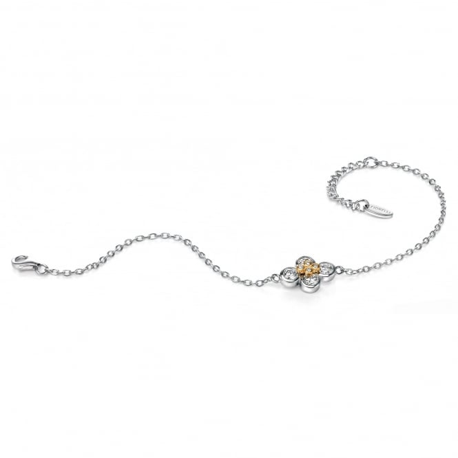 Fiorelli Silver Bracelet with Gold Plating and Cubic Zirconia