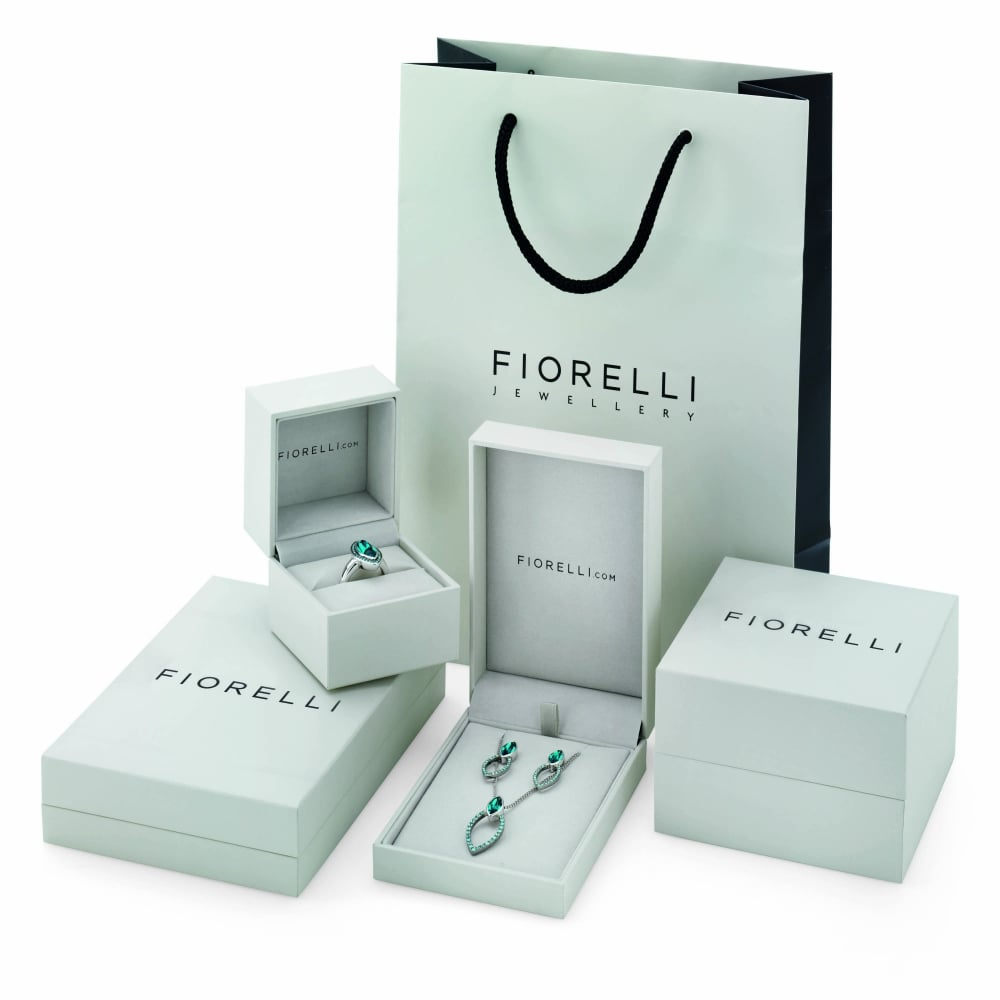 fab4a9e0299 Fiorelli Silver Pendant with Turquoise Swarovski Crystal - Ladies ...