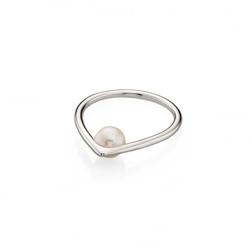 Fiorelli Silver Ring with Pearl