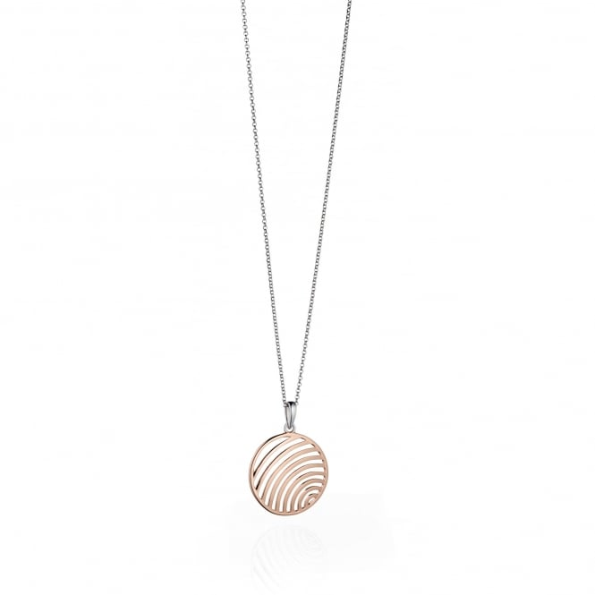 Fiorelli Silver & Rose Gold Plated Cutout Circle Pendant