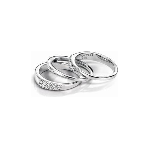 Fiorelli Silver Stacking Rings Set with Cubic Zirconia