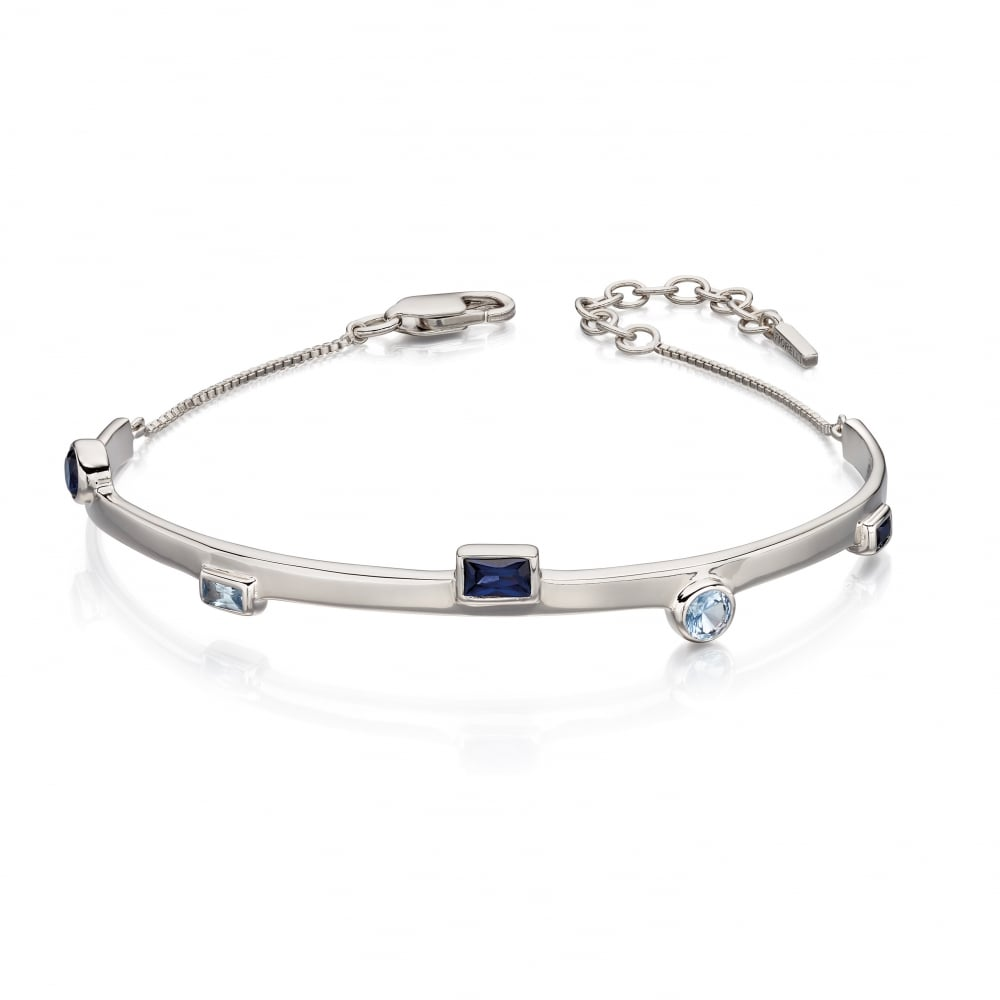 0af33d7961d455 Fiorelli Silver Swarovski Crystal Half Bangle - Ladies from Goodwins ...