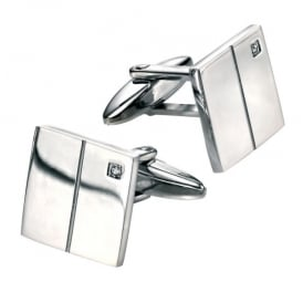 Classic Square Cuff Link set with Cubic Zirconia