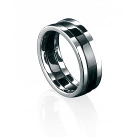 Stainless Steel & Black PVD Ring.