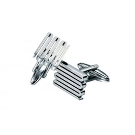 Stainless Steel Wavy Cufflinks