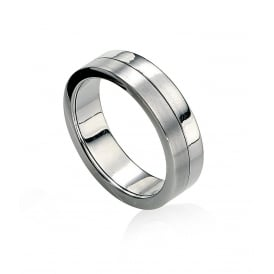 Two Tone Stainless Steel Spinning Ring.