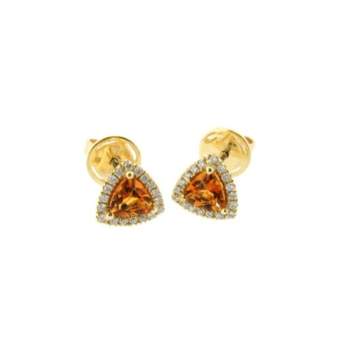 Goodwins 18ct Citrine and Diamond Earrings