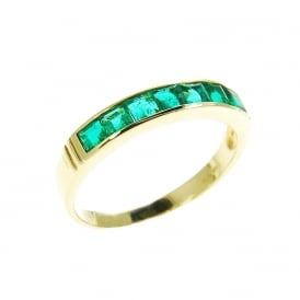 18ct Gold Emerald Eternity Ring.