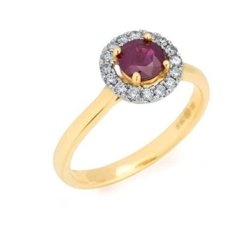 Goodwins 18ct Gold Ruby and Diamond Ring.