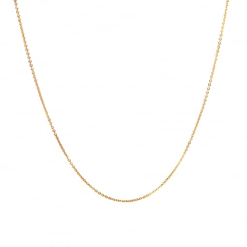 Goodwins 18ct Rose Gold 18 inch Trace Chain