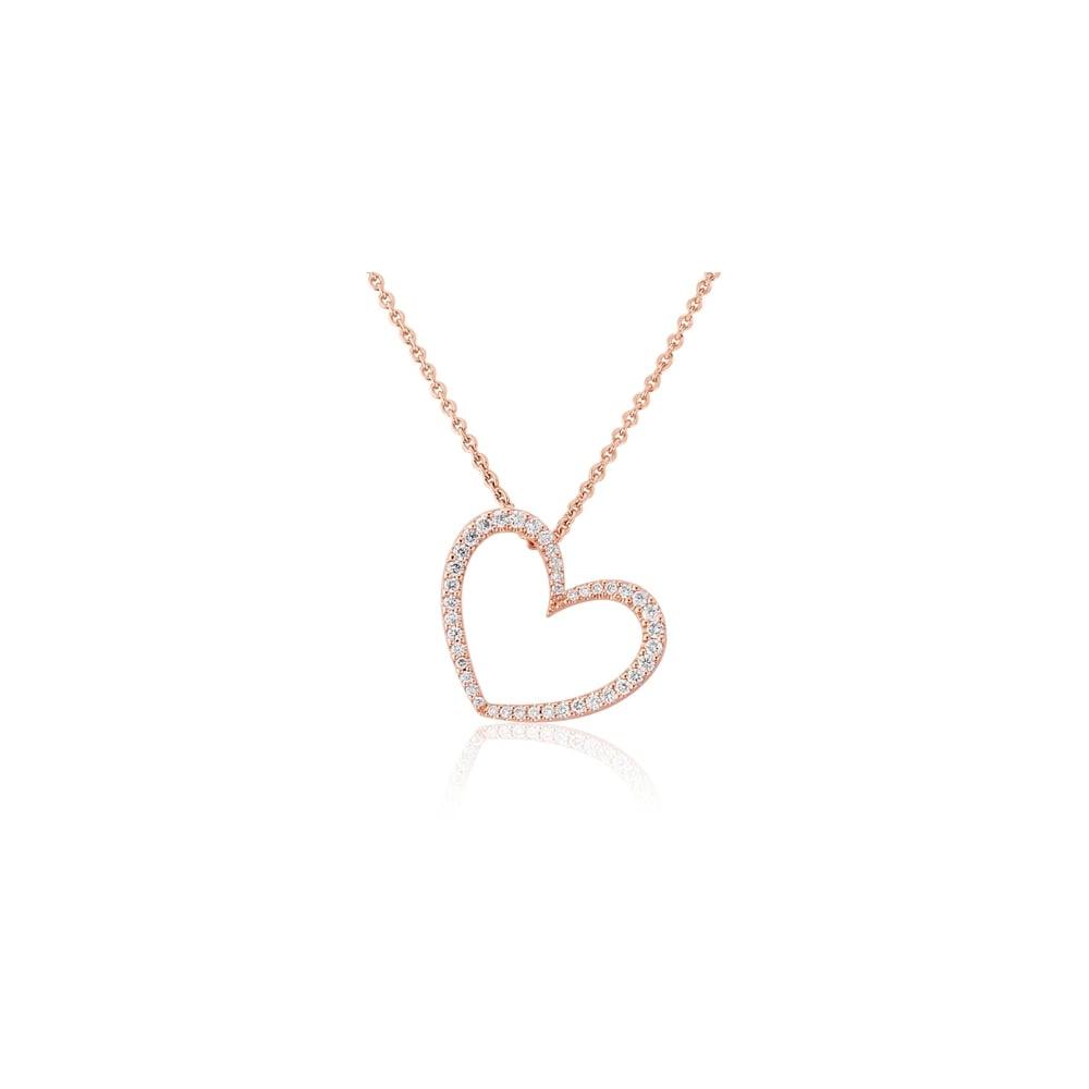 6d13fb9969517f Goodwins 18ct Rose Gold Heart Diamond Heart - Ladies from Goodwins ...