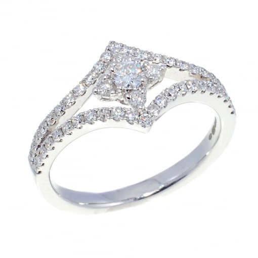 Goodwins 18ct White Gold Diamond Dress Ring