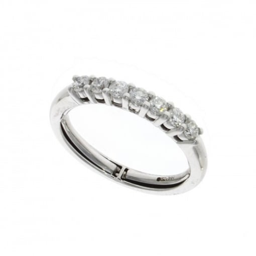 Goodwins 18ct White Gold Diamond Ring - Adjustable Size