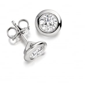 18ct White Gold Diamond Studs 0.27ct