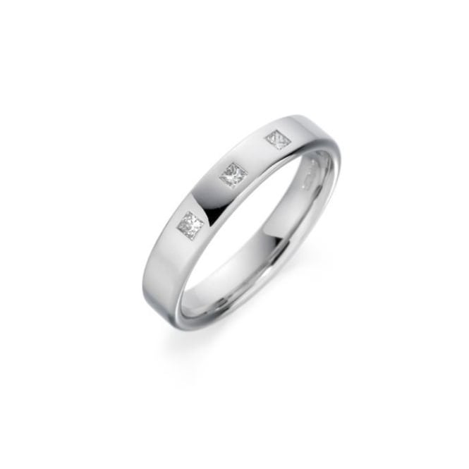Goodwins 18ct White Gold Diamond Wedding Ring