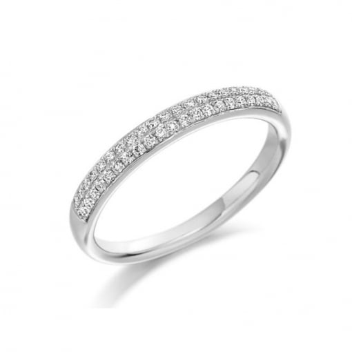 Goodwins 18ct White Gold Half Eternity Ring