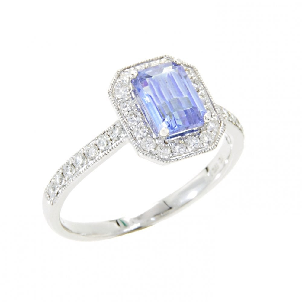 29e046d48 Goodwins 18ct White Gold Tanzanite and Diamond Cluster Ring - Ladies ...
