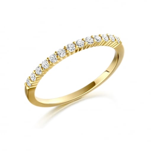 Goodwins 18ct Yellow Gold Eternity Ring with Diamonds 0.27ct