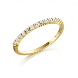 18ct Yellow Gold Eternity Ring with Diamonds 0.27ct