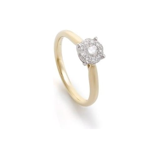 Goodwins 18ct Yellow Gold Ring with Diamond Cluster