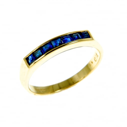 Goodwins 18ct Yellow Gold Sapphire Eternity Ring.