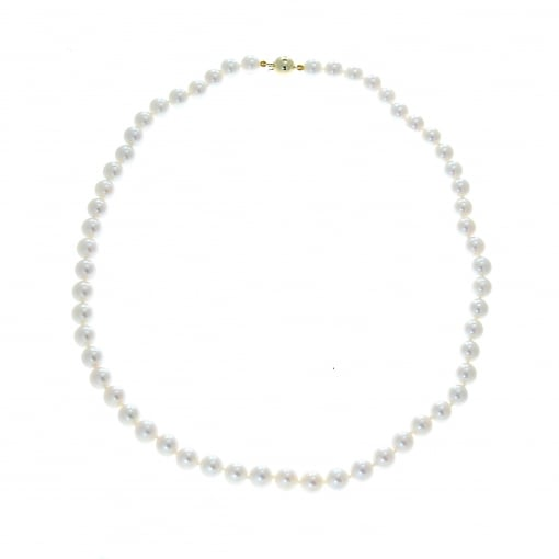 Goodwins 7.0-7.5 mm Akoya Cultured Pearls with 9ct Yellow Gold Clasp.