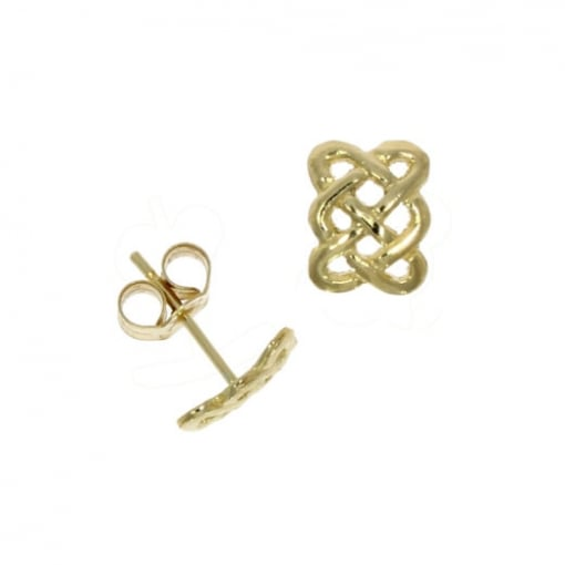 Goodwins 9ct Gold Celtic Style Stud Earring.