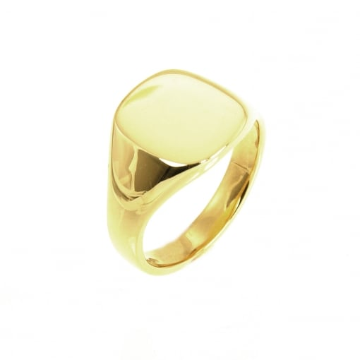 Goodwins 9ct Gold Cushion Shaped Signet Ring