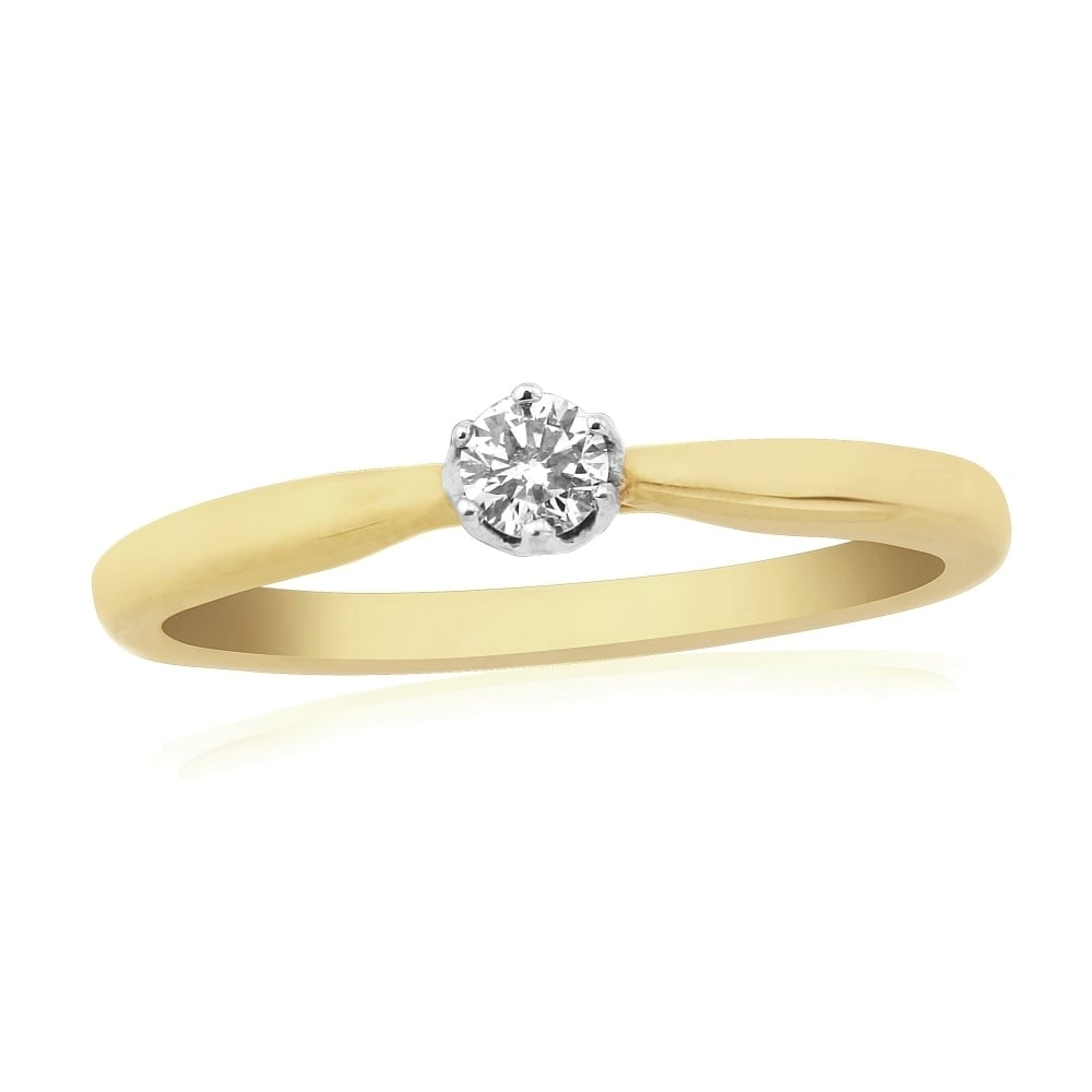 Goodwins 9ct Gold Single Diamond Ring Ladies From Goodwins