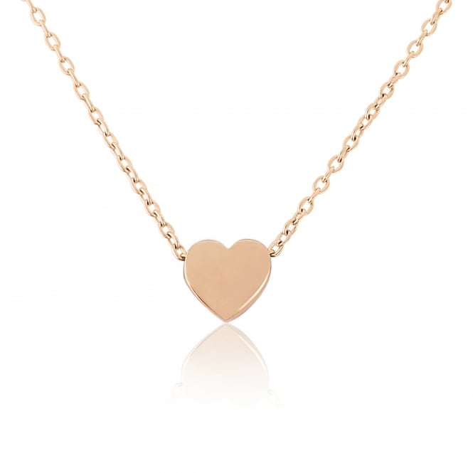 Goodwins 9ct Rose Gold Heart Necklace