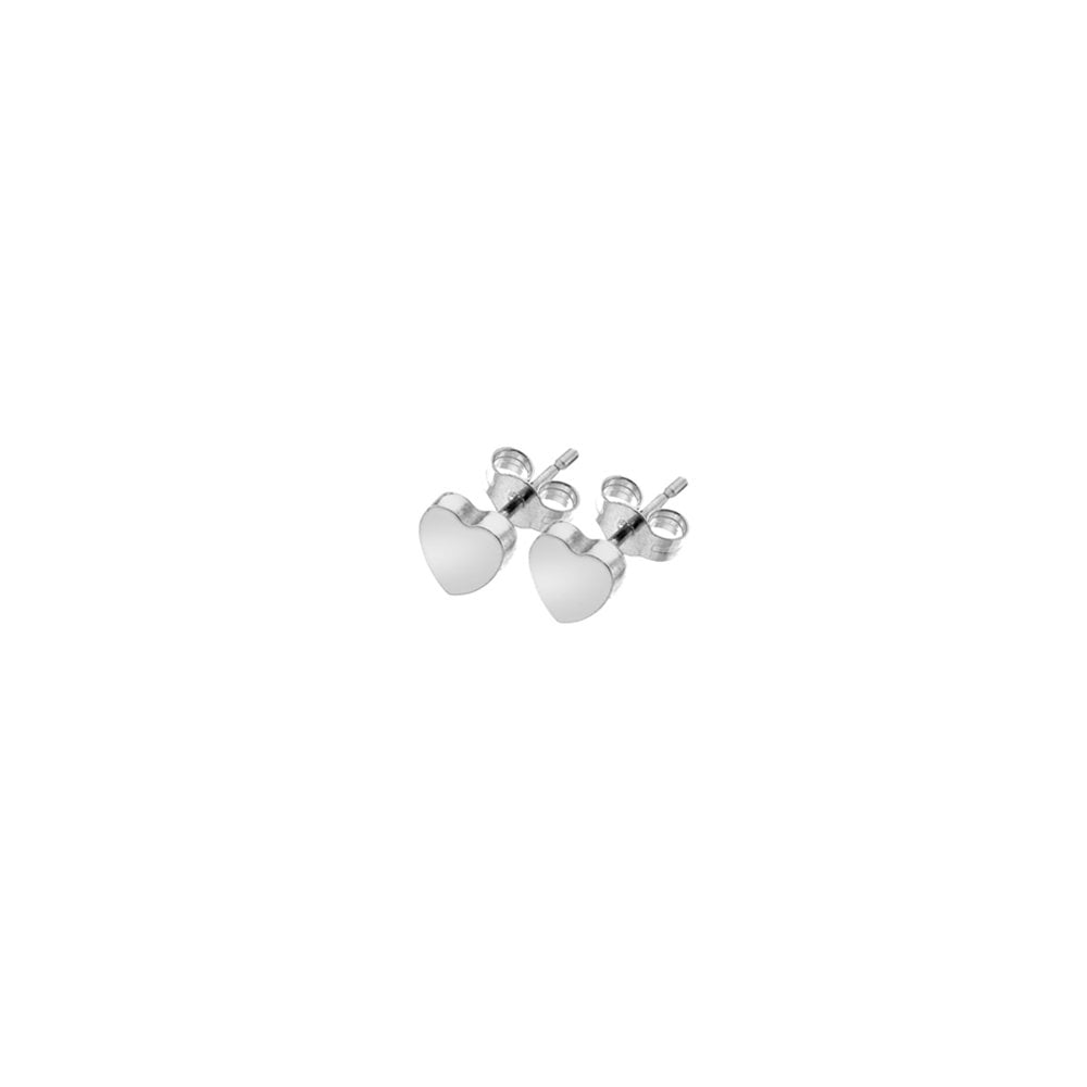 d63afe5bd56d6d Goodwins 9ct White Gold Heart Shaped Stud Earrings - Ladies from ...