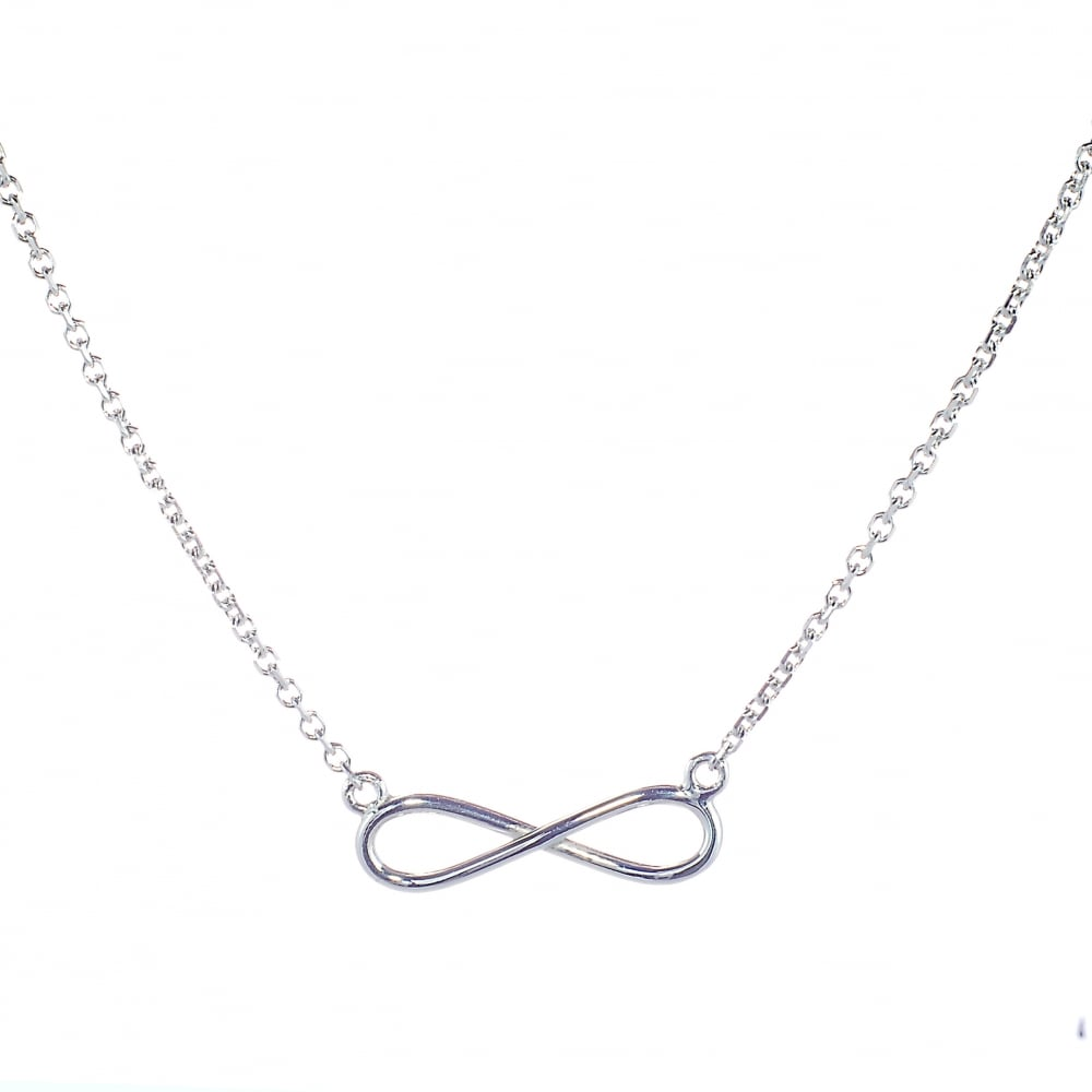 e0a6e82314b1b6 Goodwins 9ct White Gold Infinity Necklet - Ladies from Goodwins ...