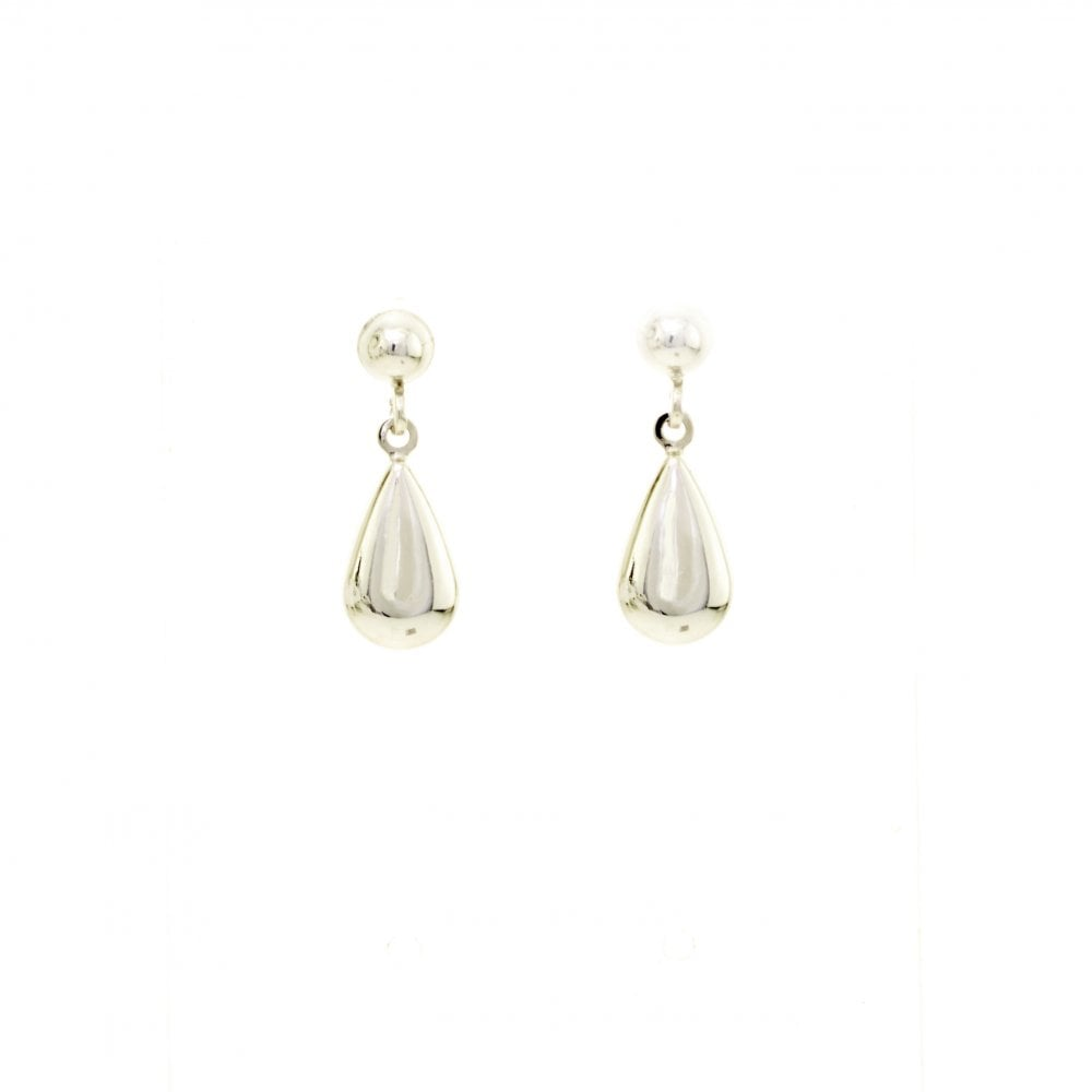 f6e34ac76 Goodwins 9ct White Gold Pearshape Drop Earrings - Ladies from ...
