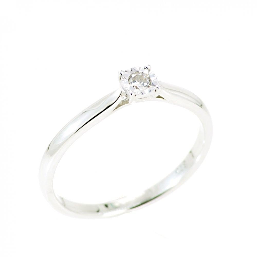 Goodwins 9ct White Gold Single Diamond Ring Ladies From Goodwins Jewellers Uk