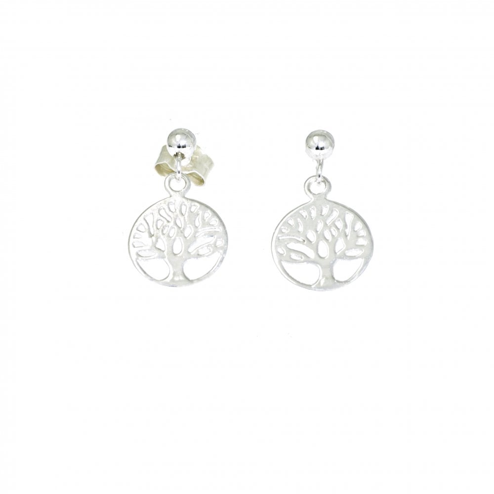 3504f3b38 Goodwins 9ct White Gold Tree of Life Drop Earrings - Ladies from ...