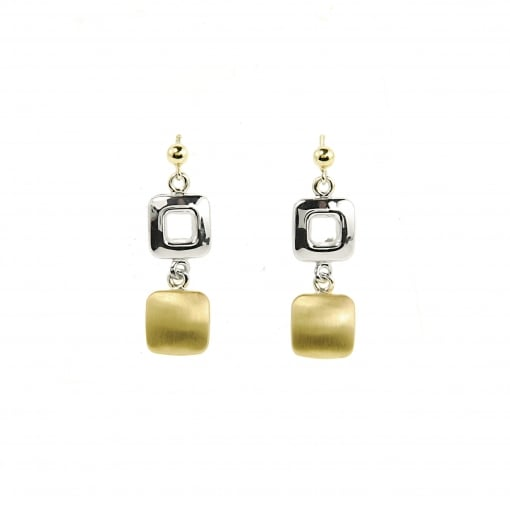 447bf7e9e Goodwins 9ct Yellow and White Gold Drop Earrings - Ladies from ...
