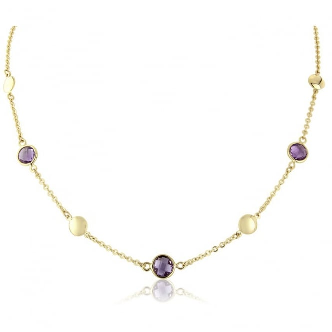 Goodwins 9ct Yellow Gold Chain with Amethysts