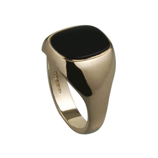 Goodwins 9ct Yellow Gold Cushion Shape Signet Ring