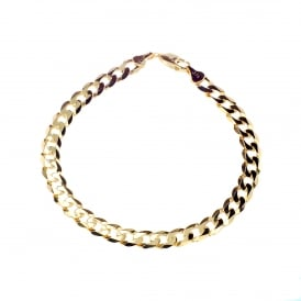 9ct Yellow Gold Filed Curb Bracelet