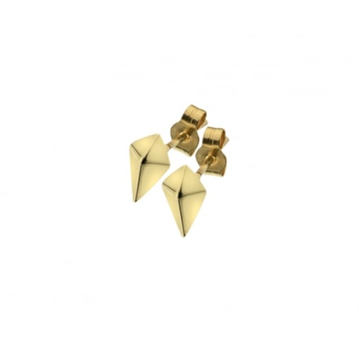 Goodwins 9ct Yellow Gold Kite Shape Stud Earrings