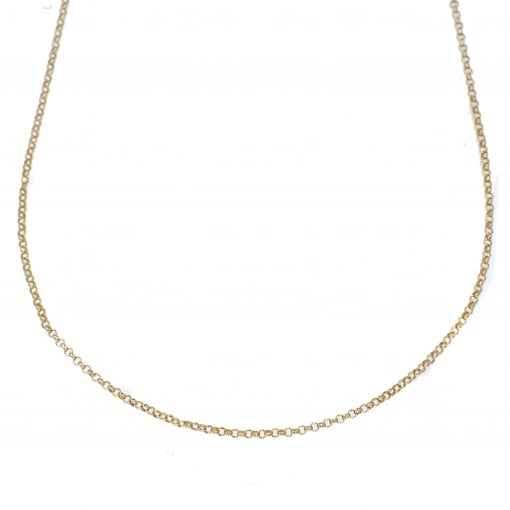 Goodwins 9ct Yellow Gold Mini Belcher Chain 16 inches