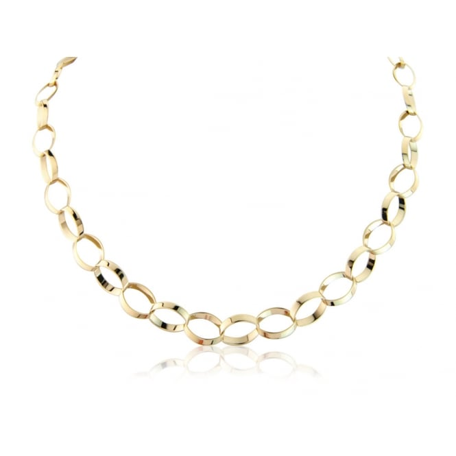 Goodwins 9ct Yellow Gold Oval Link Chain
